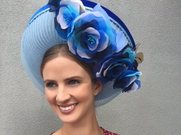 For Rent: Moore Millinery Designs Blue Breton