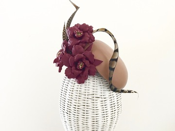For Rent: Burgundy + Nude leather hat