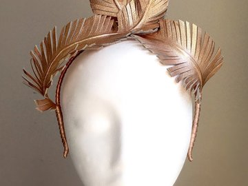 For Sale: Bardot - Leather Feather Crown