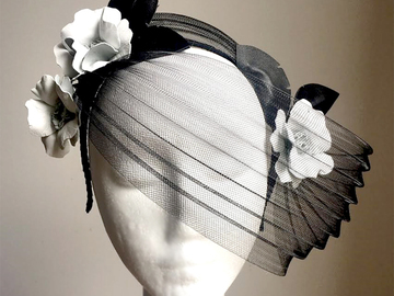 For Sale: Mia - Leather Fascinator