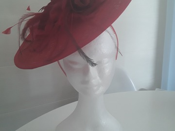 For Rent: Red rose disk hat