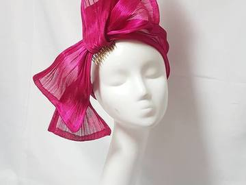 For Rent: Pink Silk Abaca Turban