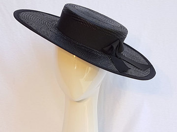 For Sale: Black boater hat