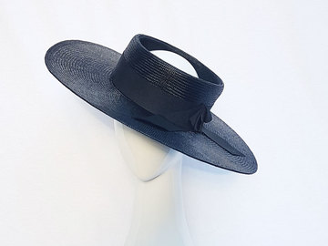 For Sale: Topless black boater hat